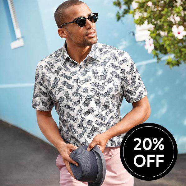 Shop 20% off men's summer style
